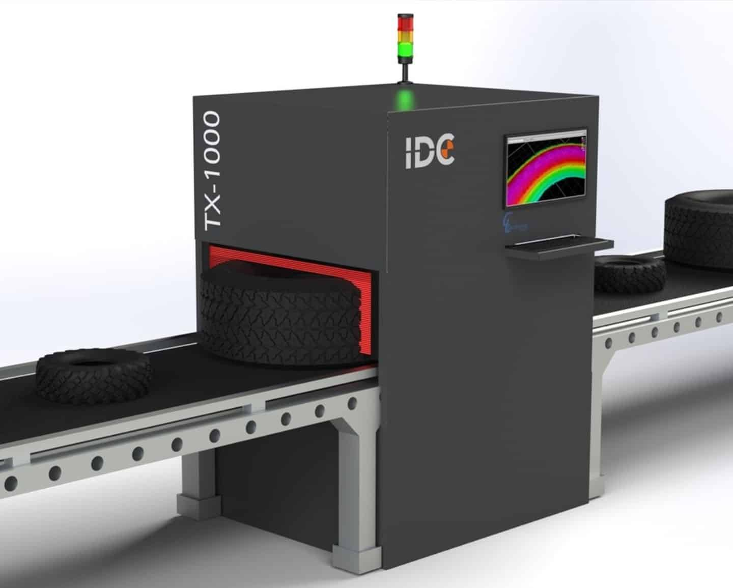 Tire scanner for 3D scanning inspection and vision process