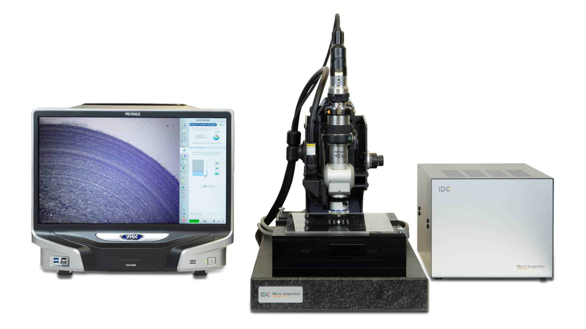 semiautomatic inspection microscope for lenses VHX 6000 and 7000